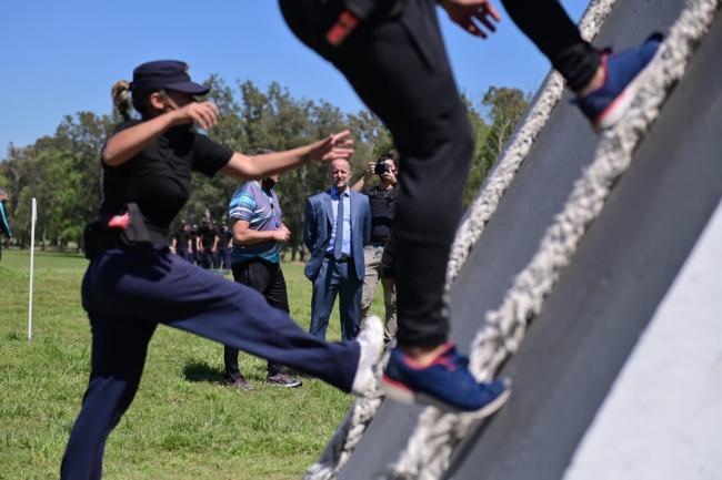 Insaurralde y Berni recorrieron  la Escuela de Policía Juan Vucetich.