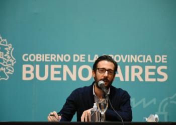 El Ministro Simone en el anuncio de obras